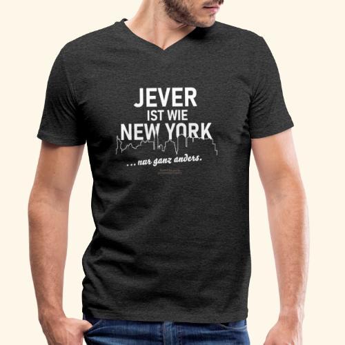 Jever ist wie New York ... nur ganz anders - Männer Bio-T-Shirt mit V-Ausschnitt von Stanley & Stella