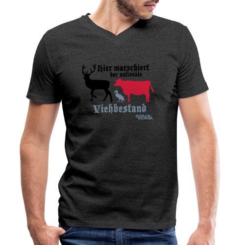 Motiv nationaler Viehbestand - Männer Bio-T-Shirt mit V-Ausschnitt von Stanley & Stella