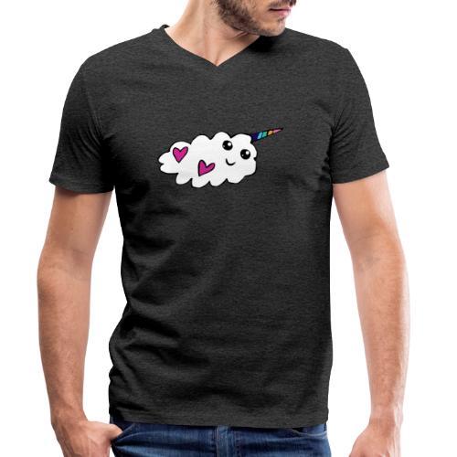 Nuage licorne Kawaii - T-shirt bio col V Stanley & Stella Homme