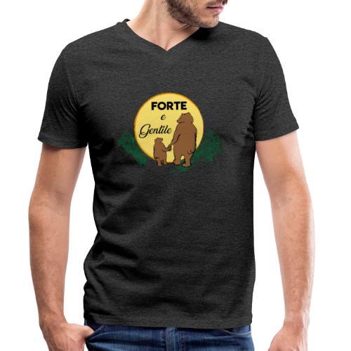 Forte e gentile - T-shirt ecologica da uomo con scollo a V di Stanley & Stella