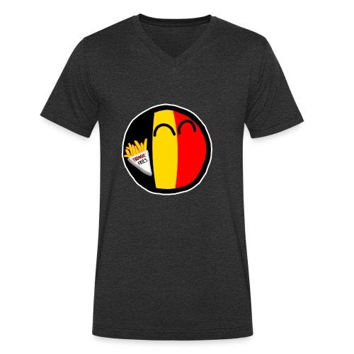 Belgiumball - Men's Organic V-Neck T-Shirt by Stanley & Stella