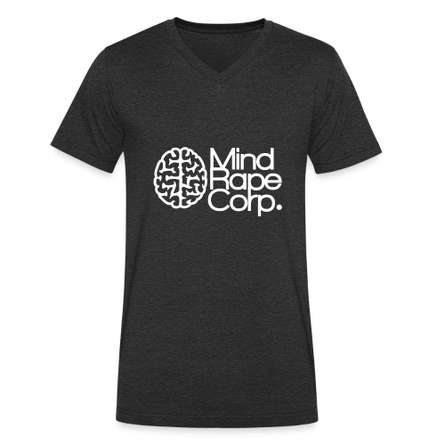 MindRape Corp Snapback Hat Black-Gray - Men's Organic V-Neck T-Shirt by Stanley & Stella