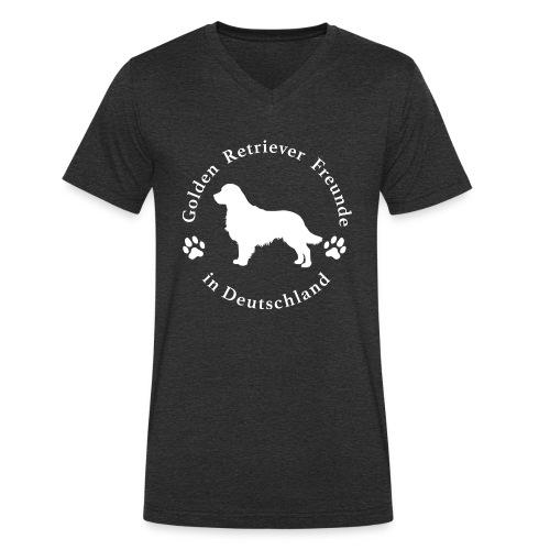 golden retriever freunde weiss neu png - Männer Bio-T-Shirt mit V-Ausschnitt von Stanley & Stella