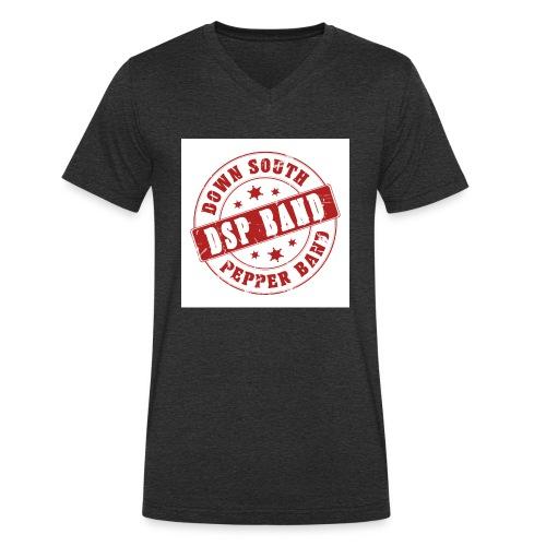 DSP band logo - Men's Organic V-Neck T-Shirt by Stanley & Stella