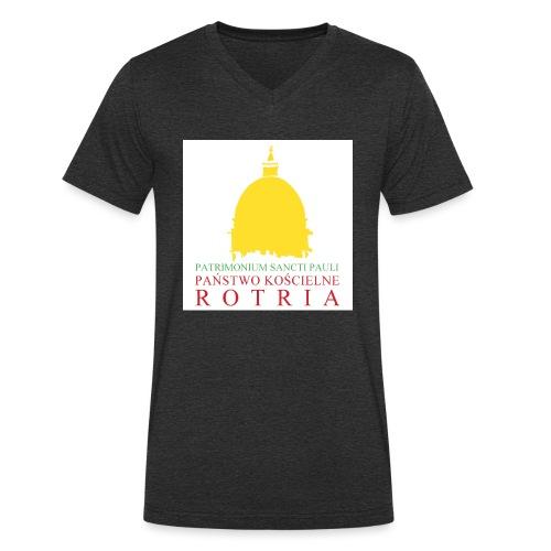 Koszulka z logo PKR - Ekologiczna koszulka męska z dekoltem w serek Stanley & Stella