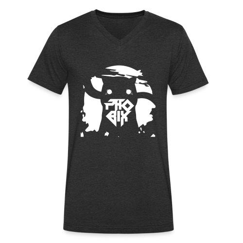 white 01big png - Männer Bio-T-Shirt mit V-Ausschnitt von Stanley & Stella