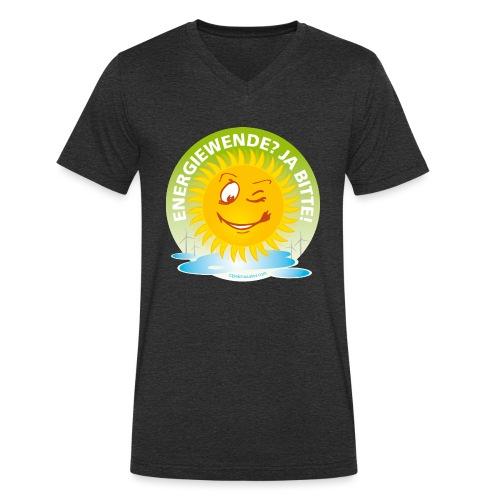 Energiewende? Ja bitte! - Männer Bio-T-Shirt mit V-Ausschnitt von Stanley & Stella