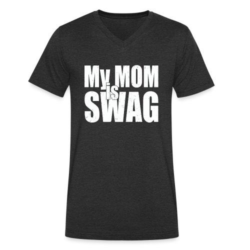 Swag White - Mannen bio T-shirt met V-hals van Stanley & Stella