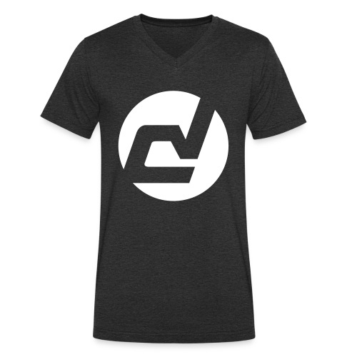 logo blanc - T-shirt bio col V Stanley & Stella Homme