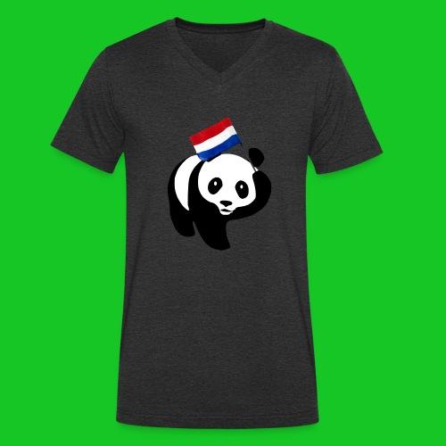 Nederlandse Panda png - Mannen bio T-shirt met V-hals van Stanley & Stella
