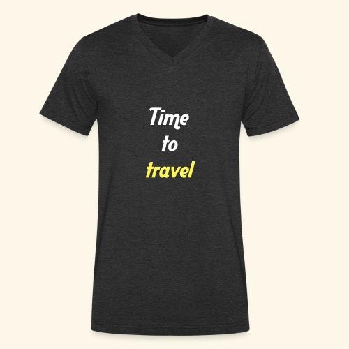 Time to travel - T-shirt bio col V Stanley & Stella Homme