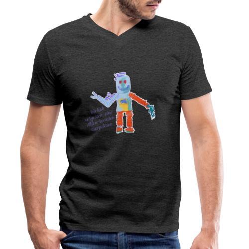 Alien Invasion - Männer Bio-T-Shirt mit V-Ausschnitt von Stanley & Stella