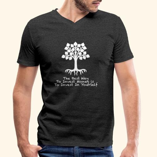 Printed T-Shirt Tree Best Way Invest Money - T-shirt ecologica da uomo con scollo a V di Stanley & Stella