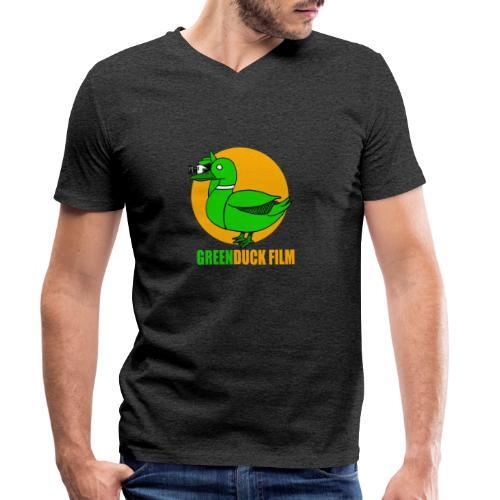 Greenduck Film Golden Sun Logo - Økologisk Stanley & Stella T-shirt med V-udskæring til herrer