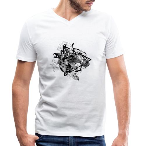 Abstract ink Doodle - T-shirt ecologica da uomo con scollo a V di Stanley & Stella