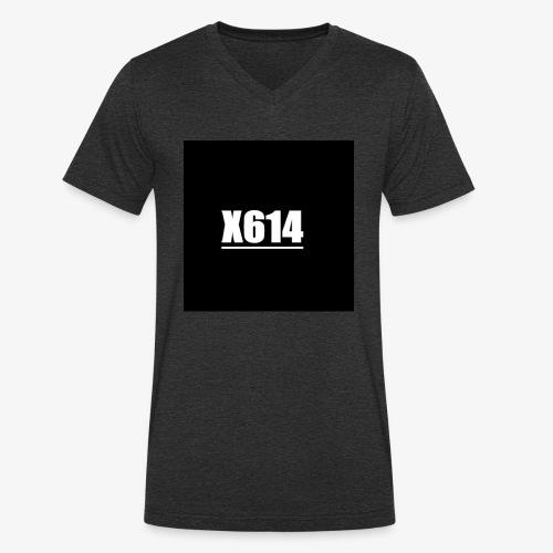 X614 logo - Økologisk T-skjorte med V-hals for menn fra Stanley & Stella