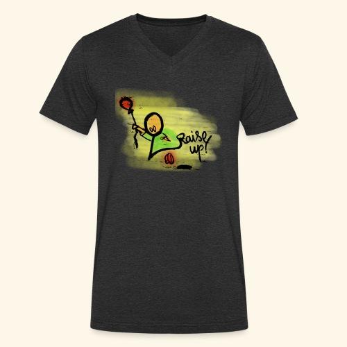 Raise up! - Männer Bio-T-Shirt mit V-Ausschnitt von Stanley & Stella