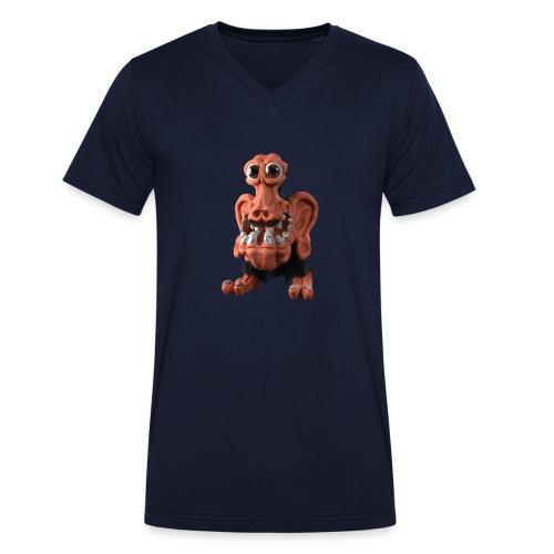 Very positive monster - Men's Organic V-Neck T-Shirt by Stanley & Stella
