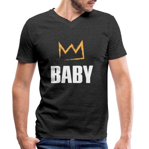 Baby mit Krone - Männer Bio-T-Shirt mit V-Ausschnitt von Stanley & Stella