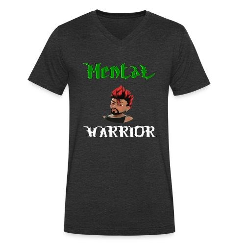 DemonicGamingUK Mental Warrior - Men's Organic V-Neck T-Shirt by Stanley & Stella