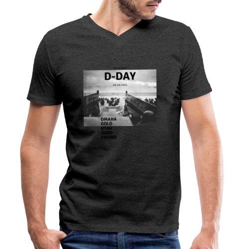 75 Jahre D-Day - Männer Bio-T-Shirt mit V-Ausschnitt von Stanley & Stella