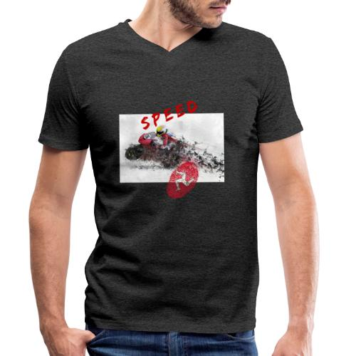Speed - Isle of Man - Männer Bio-T-Shirt mit V-Ausschnitt von Stanley & Stella