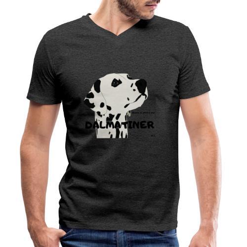 Home is where my Dalmatiner is ! - Männer Bio-T-Shirt mit V-Ausschnitt von Stanley & Stella