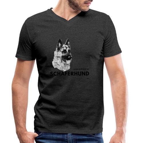 Home is where my Schäferhund is ! - Männer Bio-T-Shirt mit V-Ausschnitt von Stanley & Stella