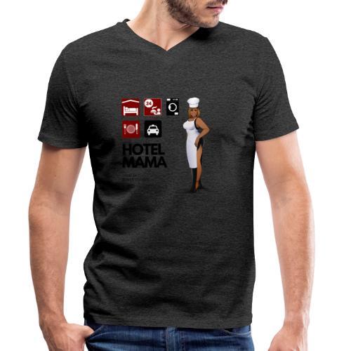 Hotel Mama - Männer Bio-T-Shirt mit V-Ausschnitt von Stanley & Stella