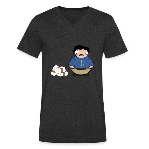 Pablito. - Camiseta ecológica hombre con cuello de pico de Stanley & Stella