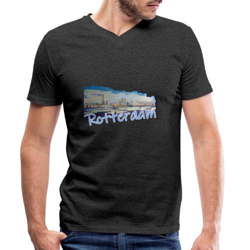 Rotterdam - Männer Bio-T-Shirt mit V-Ausschnitt von Stanley & Stella