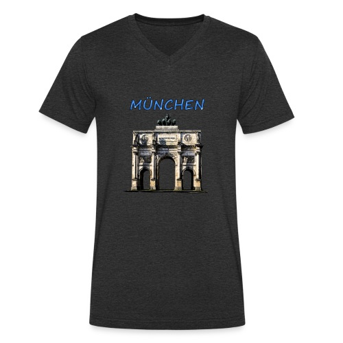 Münchnen Siegestor - Männer Bio-T-Shirt mit V-Ausschnitt von Stanley & Stella