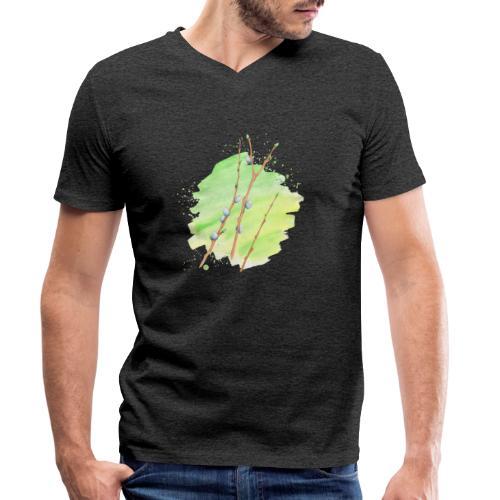 Weidenkätzchen - Männer Bio-T-Shirt mit V-Ausschnitt von Stanley & Stella