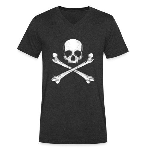 Jolly Roger - Pirate Skull Flag - Men's Organic V-Neck T-Shirt by Stanley & Stella