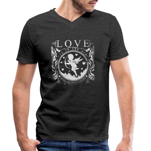Love is in the air - Männer Bio-T-Shirt mit V-Ausschnitt von Stanley & Stella