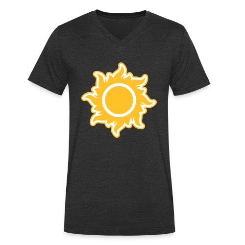 feurige Sonne sunshine Sommer summer Stern Star - Men's Organic V-Neck T-Shirt by Stanley & Stella