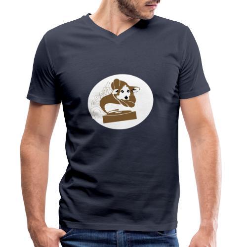 Droove logo - Mannen bio T-shirt met V-hals van Stanley & Stella