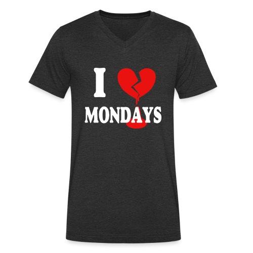I hate Mondays (white) - Männer Bio-T-Shirt mit V-Ausschnitt von Stanley & Stella