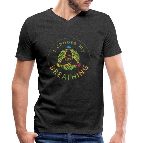 i choose my breathing V1 - T-shirt bio col V Stanley & Stella Homme