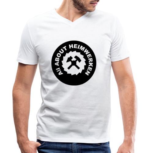 ALL ABOUT HEIMWERKEN - LOGO - Männer Bio-T-Shirt mit V-Ausschnitt von Stanley & Stella