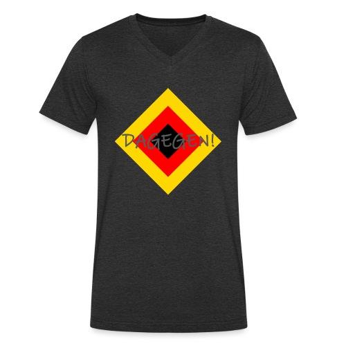 Anti-Raute - Männer Bio-T-Shirt mit V-Ausschnitt von Stanley & Stella