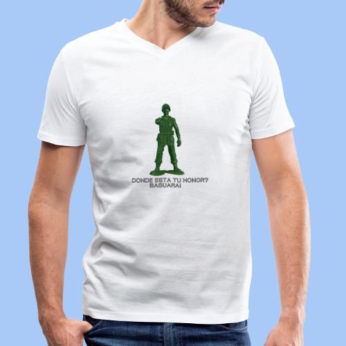 donde esta tu honor - Camiseta ecológica hombre con cuello de pico de Stanley & Stella