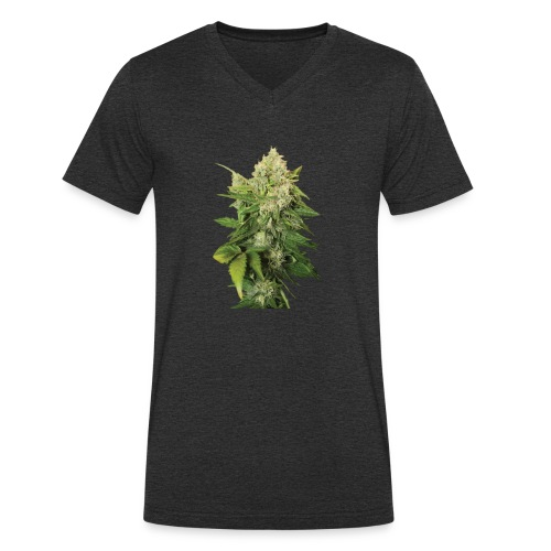 Cannabis Bud real - Männer Bio-T-Shirt mit V-Ausschnitt von Stanley & Stella