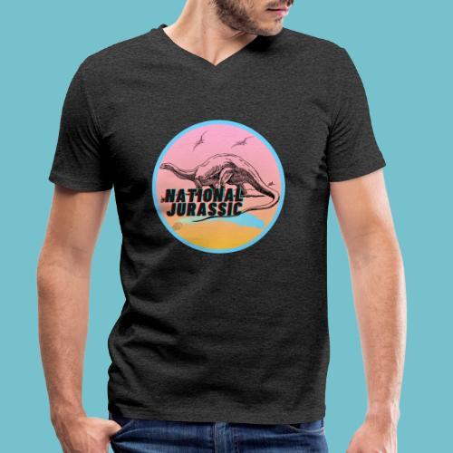National Jurassic - Men's Organic V-Neck T-Shirt by Stanley & Stella