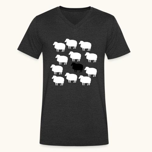 Lustige Schafherde Schwarzes Schaf Geschenkidee - T-shirt bio col V Stanley & Stella Homme
