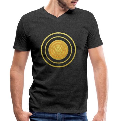 Glückssymbol Sonne - positive Schwingung - Spirale - Männer Bio-T-Shirt mit V-Ausschnitt von Stanley & Stella