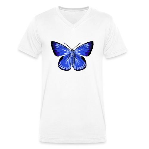 vlinder2_d - Mannen bio T-shirt met V-hals van Stanley & Stella