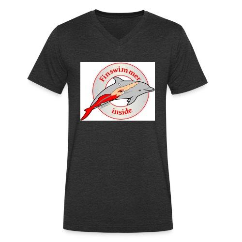 Logo für alle Freunde des Finswimming - Männer Bio-T-Shirt mit V-Ausschnitt von Stanley & Stella