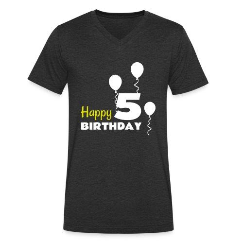 HAPPY birthday5 - Camiseta ecológica hombre con cuello de pico de Stanley & Stella