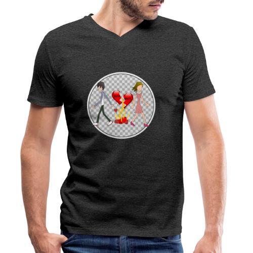 Divorce Trennung - Männer Bio-T-Shirt mit V-Ausschnitt von Stanley & Stella